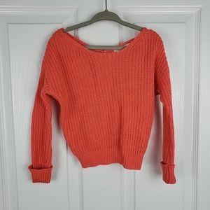 GB Girls knit Sweater coral knotted back size 4